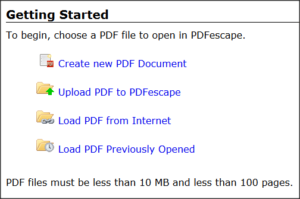 PDFescape-Getting-Started