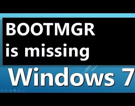 Исправляем ошибку BOOTMGR is missing в Windows 7
