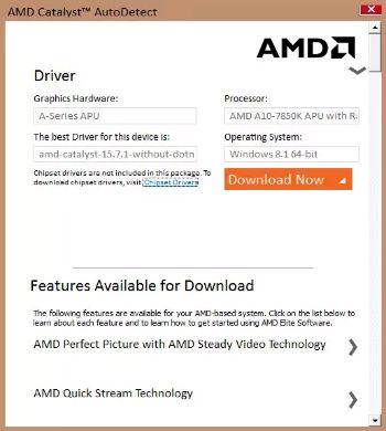 Обновить драйвера видеокарты amd