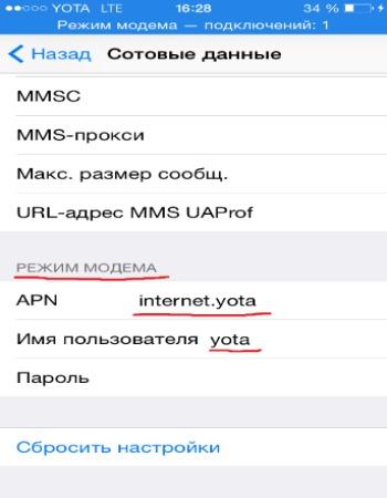 Как раздать интернет с Айфона фото 1