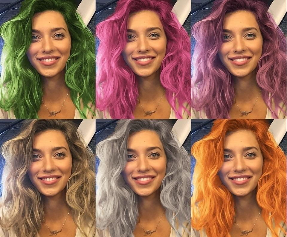 Teleport выпустила фоторедактор, позволяющий красить волосы в разные цвета
