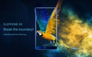 Высокофункциональный безрамочный Elephone S8 скоро поступит в продажу