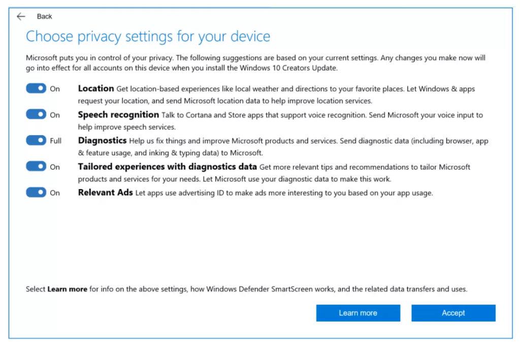 Windows 10 запретит доступ к приложениям
