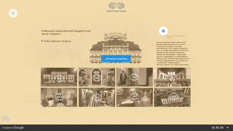 Google 3D путешествие по лучшим оперным театрам Украины фото 6