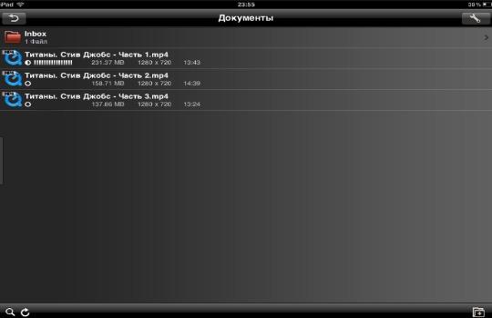 Как загрузить фильм на iPad фото 1