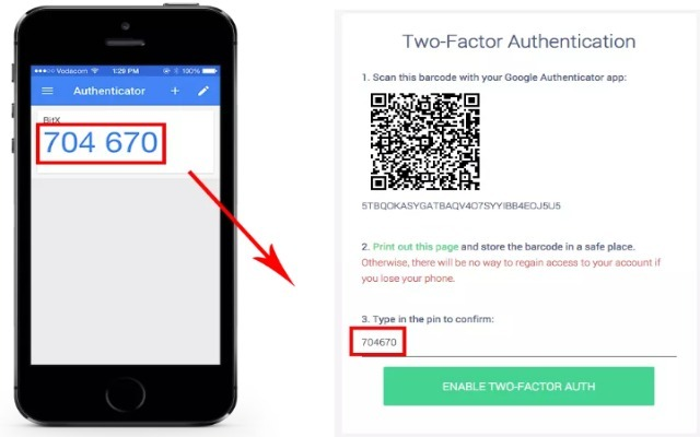 Google Authenticator на телефон