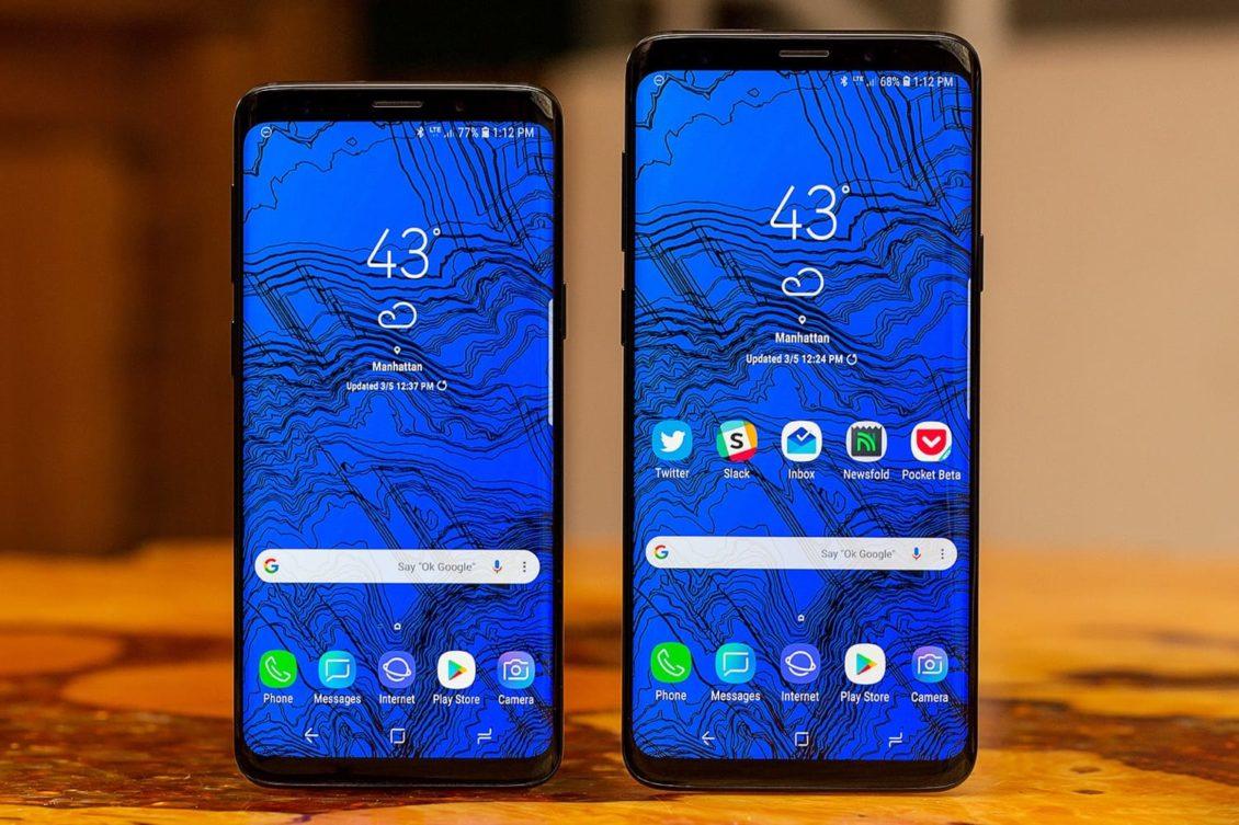 Samsung смартфон с изогнутым экраном