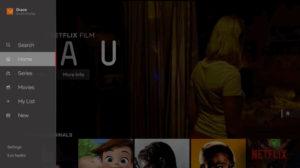 Netflix интерфейс приложений поиска программ для ТВ