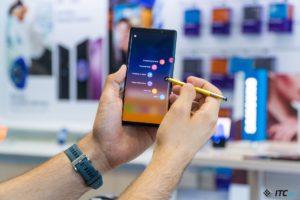 Galaxy Note9 получил высшую оценку качества его дисплея