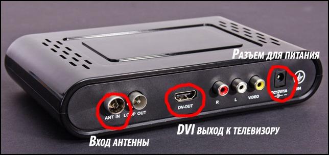 Как подключить приставку цифрового телевидения