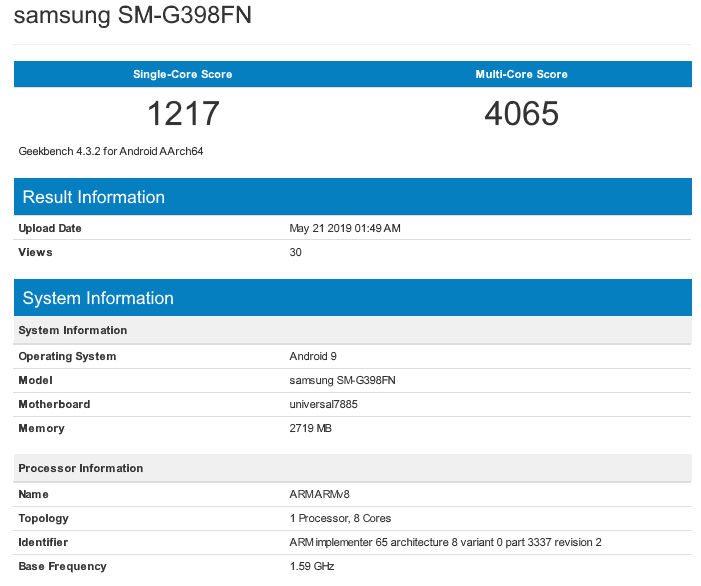 Samsung Galaxy Xcover 5 характеристики