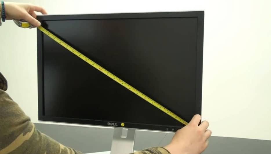 как определить диагональ телевизора в сантиметрах