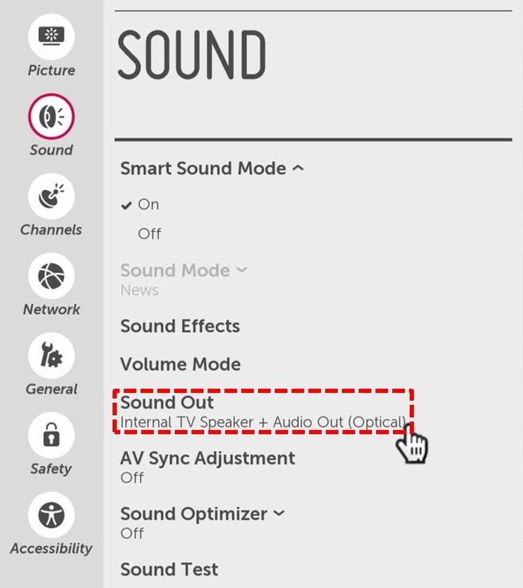 режимы звука на ТВ LG